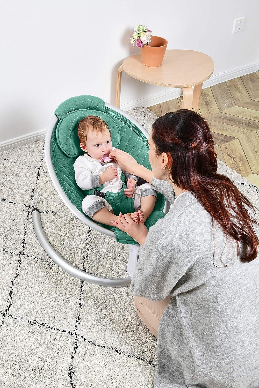 2020 Verde Hamaca para beb/é hamaca port/átil autom/ática de dise/ño de lujo desde el nacimiento hasta un m/áximo de 9 kg