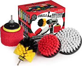 Drillbrush Drill Brush Power Scrubber Attachments - Bathroom Kitchen Cleaning Supplies - Tile Grout Baseboard Tub & Shower...