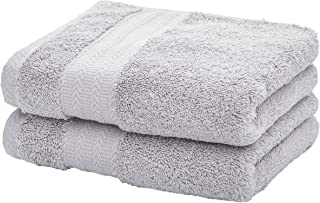 Ultra Soft Cotton Hand Towel ( Grey,2-Pack, 14