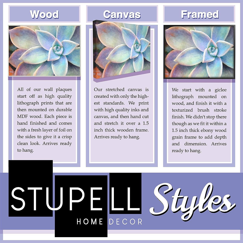 The Stupell Home D/écor Collection California Sunshine Wandschild aus Holz 25.4 x 1.27 x 38.1 cm Holz Mehrfarbig Used-Look