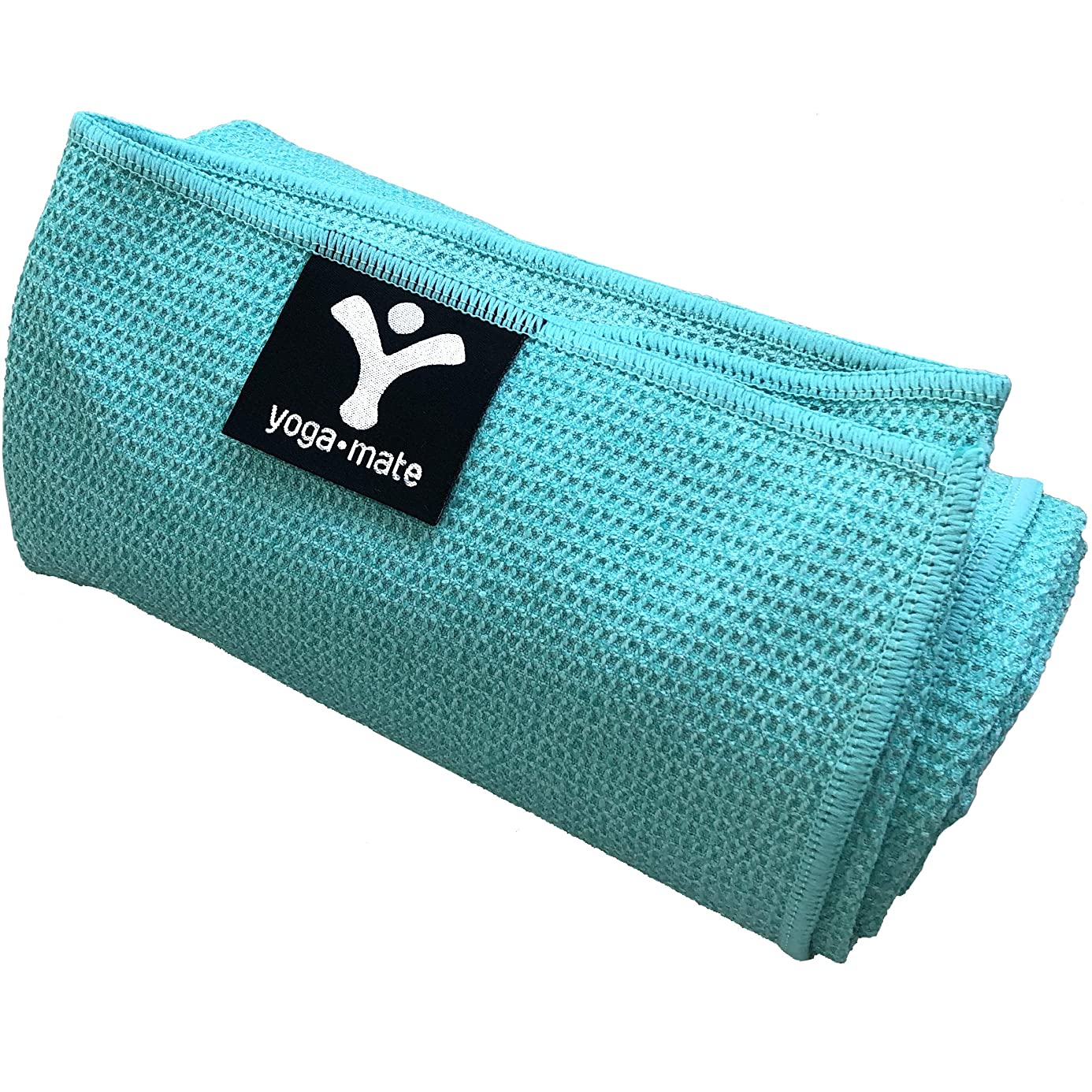 Yoga Mate Sticky Grip Yoga Towel The Best Non-Slip Towel for Hot Yoga - Anti-Slipping, Sweat Absorbent Microfiber Towels with Silicone Grip Bottom - Perfectly Fits Standard & XL Sized Mats