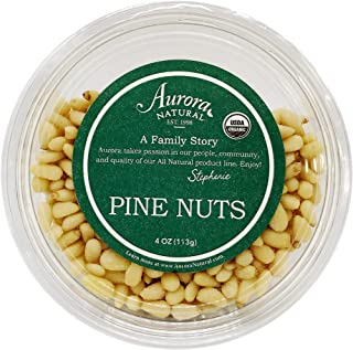 Aurora Natural Products Organic Pine Nuts, 4 Ounce