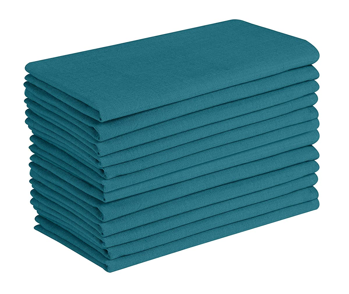 Cotton Clinic Everyday 17x17 Cloth Dinner Napkins Teal - Set of 12