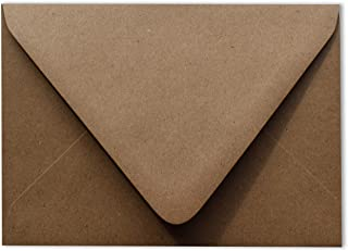 Grocery Bag Brown 80lb Contour Euro Flap 100 Boxed A6 Envelopes 4-3/4 x 6-1/2 for 4-1/2 x 6-1/4 Greeting Cards Invitations...