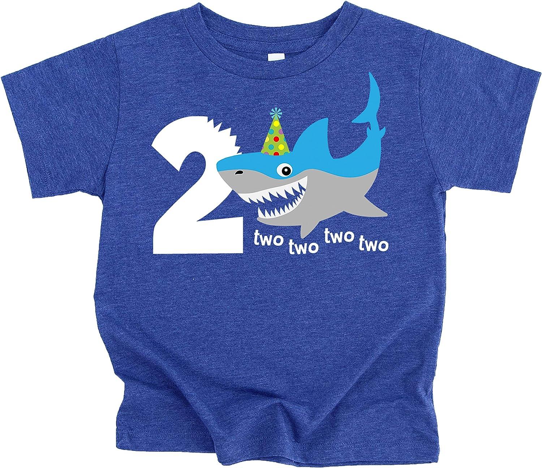 Shark 2nd Birthday Shirt for Boys Shark Themed Second Birthday Outfit