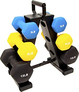 BalanceFrom GoFit All-Purpose Dumbbells in Pair, or Set with Rack
