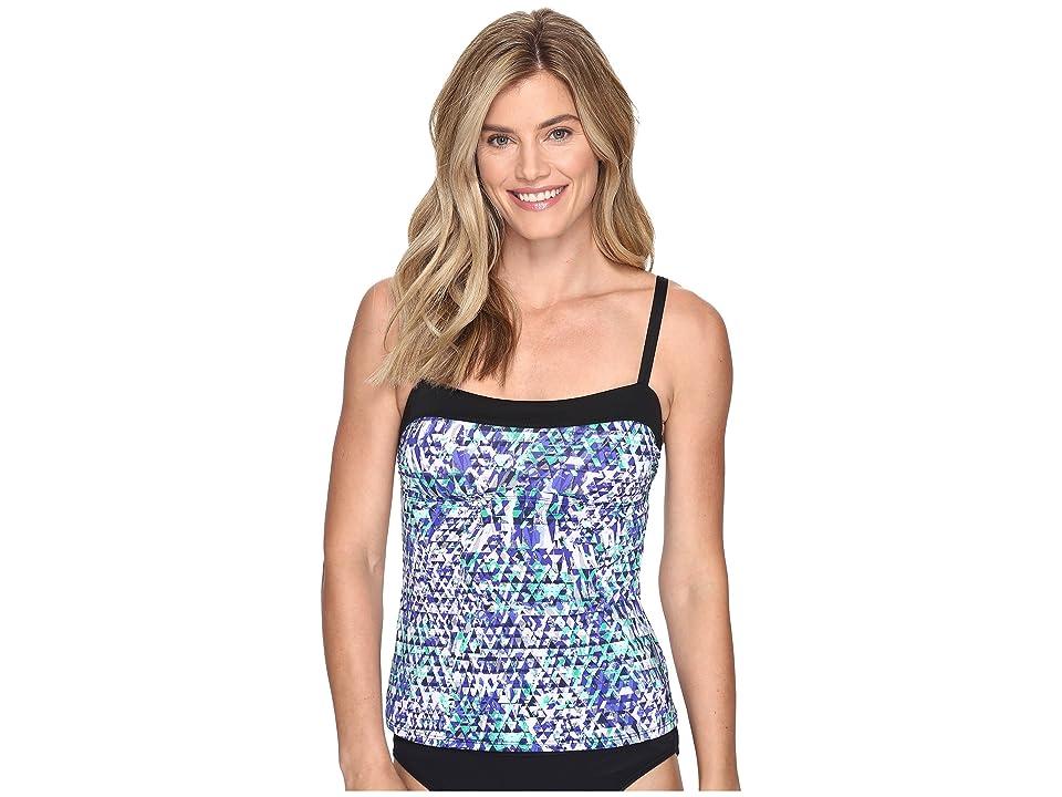 Nike Fracture Bandeau Tankini Top (Medium Blue) Women