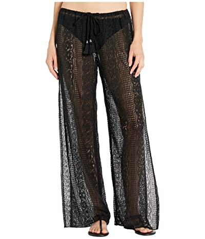 BECCA by Rebecca Virtue Poetic Sheer Lace Pants Cover-Up (Black) Women
