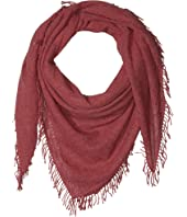 100% Cashmere Scarf with Tied Tassel Fringe At Ends
