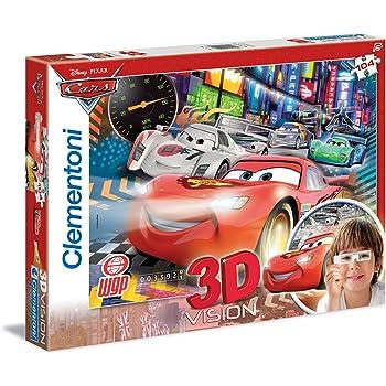 Clementoni 27074 Metallic Puzzle Cars 3 104 Pezzi