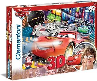 Clementoni 3D Vision Disney Cars 104-Pieces Puzzle, Multi-Colour