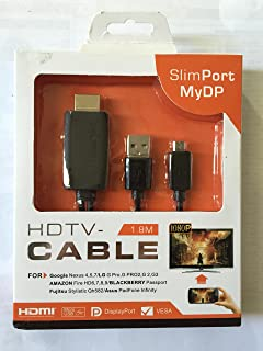 Slimport MyDP to HDMI HD TV Adapter Converter Cable Amazon Fire HD6 HD7 HDX8.9 LG G Pro G2 G3 G4 G Pad 8.3 Nexus 4 5 7