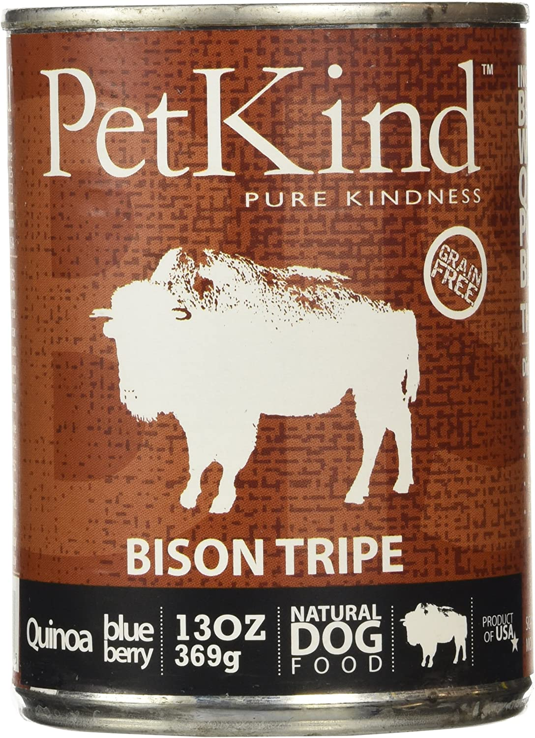 PETKIND 328009 That's It Bison Tripe Supplement for Pets, 13Ounce , pack of 12