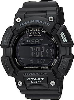 """Casio""""Tough Solar"""" - Reloj deportivo de cuarzo, acero inoxidable y resina, color: negro (modelo: STLS-110H-1B2CF)"""