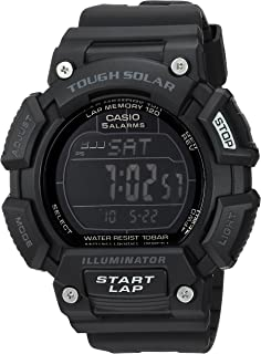Casio Men's 'TOUGH SOLAR' Quartz Stainless Steel and Resin Sport Watch, Color:Black (Model: STLS-110H-1B2CF)
