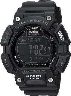 Casio Men's Stainless Steel Quartz Sport Watch with Resin Strap, Black, 21 (Model: STLS110H-1B2)