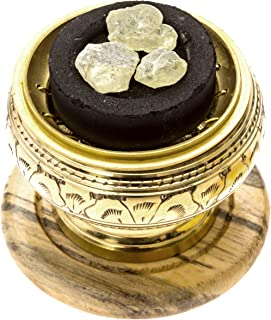 Alternative Imagination Premium Copal Burning Kit with Brass Screen Burner, with Copal Resin, Incense Holder, and Charcoal Pucks