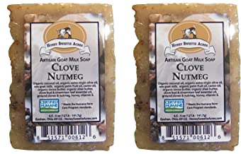 Premium Handcrafted Artisan Goat Milk Soap - FEELS SO WONDERFUL on your skin that 4 out of 5 customers come back! (Clove Nutmeg (2-Pack))