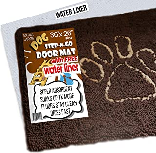 iPrimio XL Extra Thick Micro Fiber Door Mat - Super Absorbent. Includes Water Proof Liner - Size 36