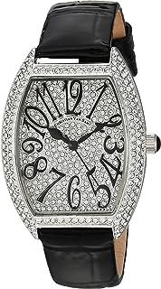 Christian Van Sant Women's Elegant Stainless Steel Analog Quartz Leather Strap, Black, 14 Casual Watch (Model: CV4821B)