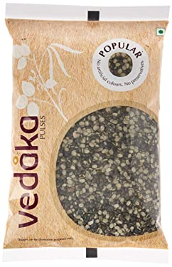 Amazon Brand - Vedaka Popular Black Urad Split / Chilka, 1 kg