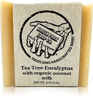Soap by North Park Soap Co. Tea Tree Eucalyptus with Organic Coconut Milk 5.50 oz Handcrafted using Therapeutic Grade Essential Oils