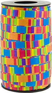 "Berwick Offray 3800999 3/8"" Wide Curl Ribbon, 250 Yards, Multicolor Stripe Pattern"