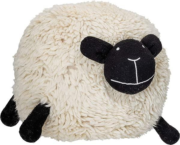 Bloomingville A82043365 Sheep Pouf White