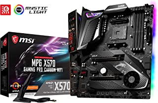 MSI Mpg X570 Gaming Pro Carbon Wifi - Placa Base (Chipset AMD X570, DDR4, Audio Boost, Intel Lan, Socket AM4, Wi-Fi, HDMI, Soporta AMD Pocesadores) Color Negro