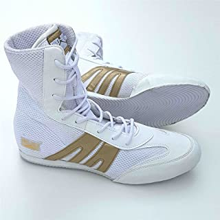 Pro Box Adult Boxing Boots White/Gold