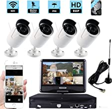 WiFi Wireless Home Security Camera System,Unitech 4CH 960P Video Security System with 10