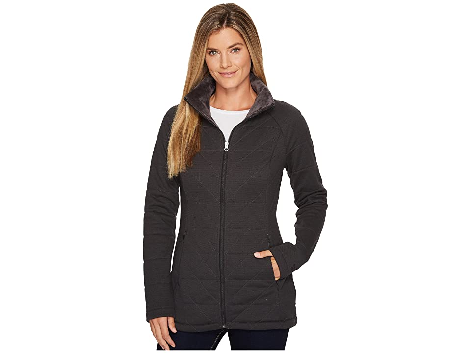 The North Face Knit Stitch Fleece Jacket (TNF Dark Grey Heather) Women