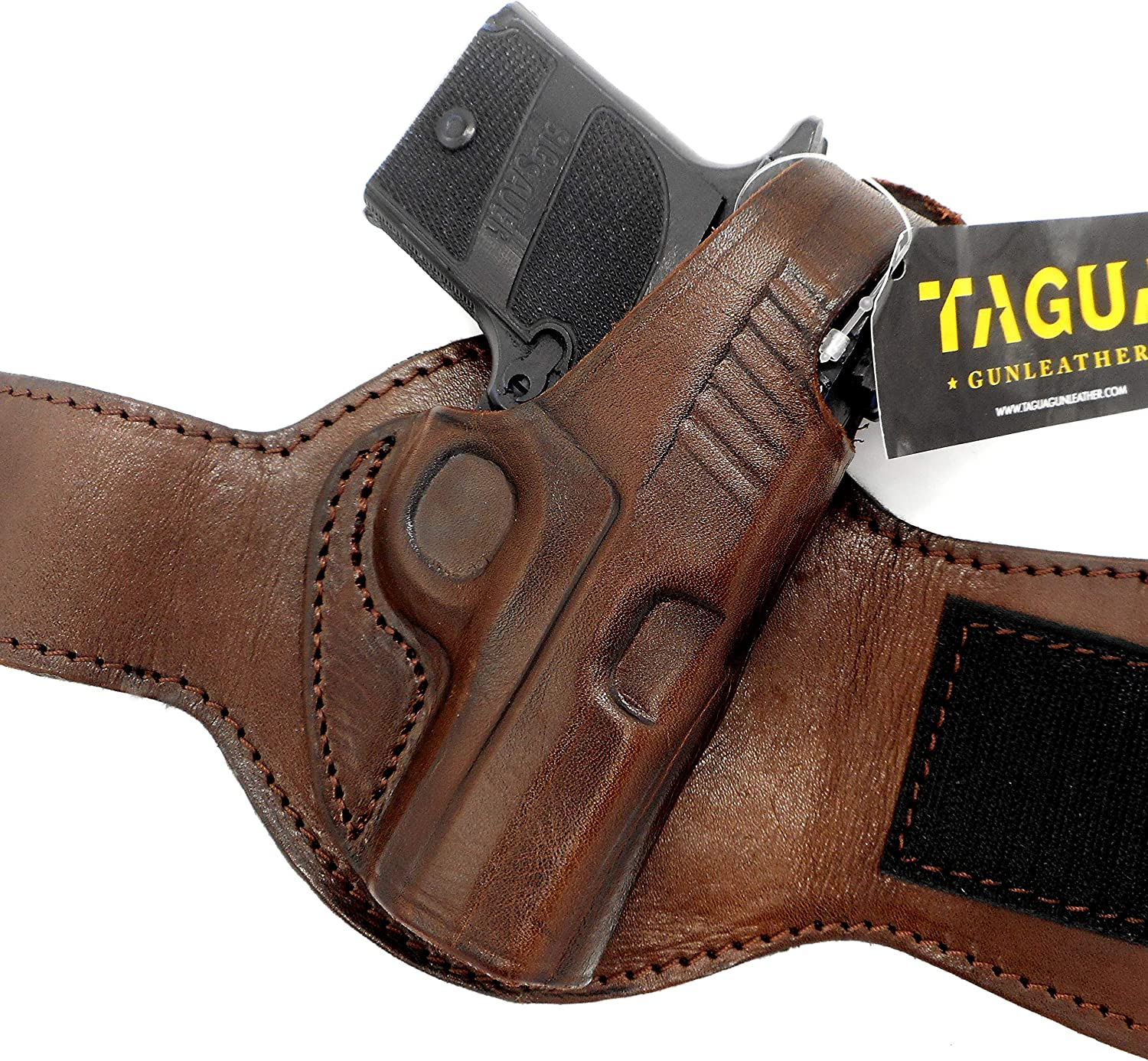 TAGUA Our shop OFFers the best service Premium Outstanding Dark Brown Leather Draw Holster Ankle Right-Hand f