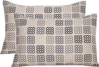 """Maspar Festive Solace Earth Crust Print Cotton Pillow Case - 20""""x30"""", Neutral"""
