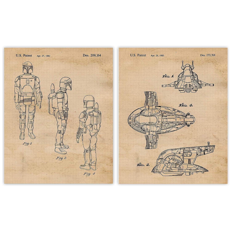Vintage Outstanding Movies Sacramento Mall Vessel Character Patent 2 8x10 Prints Unfram