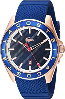 Lacoste Men's 'Westport' Quartz Stainless Steel and Silicone Casual Watch, Blue (2010906), Analog Display