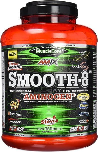 Amix Smooth 8 Hybriid Protein 2300 Gr Milk Vainilla 2.3 2300 ...
