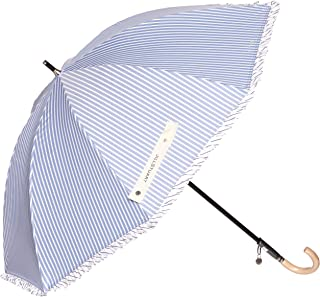 [ジルスチュアート] AURORA(オーロラ) JI-23007-07 ダブルストライプフリル1段スライド遮光兼用長傘