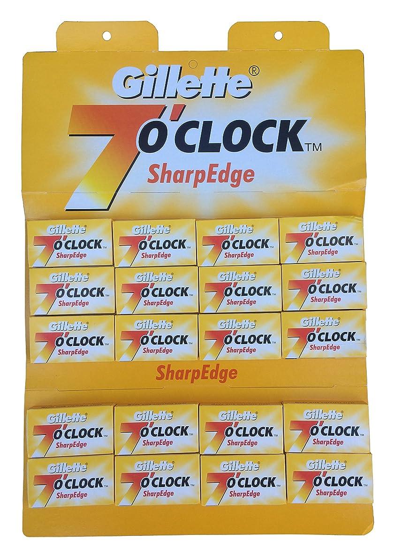 特徴づける航海の高速道路Gillette 7 0'Clock SharpEdge 両刃替刃 100枚入り(5枚入り20 個セット)【並行輸入品】