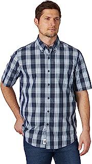 Wrangler Authentics Mens Short Sleeve Classic Plaid Shirt