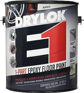 UNITED GILSONITE LAB 23813 Drylok E-1, Gallon, Platinum, 1 Part Epoxy Semi-Gloss Floor Paint
