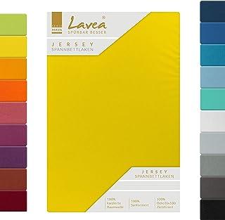 Lavea Jersey Drap-housse, série Maya, 100% coton, finition de qualité supérieure, avec bande élastique, certifié OekoTex100