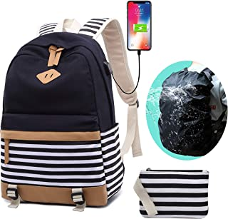 Laptop School Backpack Girls Computer Daypack fit 15.6 inch Laptop