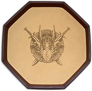 Darksilver Forge Odin's Battlefield 11.5 Inch Octagon D&D Dice Tray from an Epic Rolling Surface for Dungeons & Dragons, Pathfinder RPG