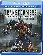 TRANSFORMERS: Age of Extinction (TRANSFORMERS: La Era de la Extinción) BLU-RAY 3D + BLU-RAY + BD BONUS DISC (English, Spanish, French & Portuguese Audio & Subtitles) IMPORT