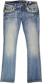 Women's JE291SB3R Embellished Signature Slim Boot Cut Jeans Medium Blue Wash