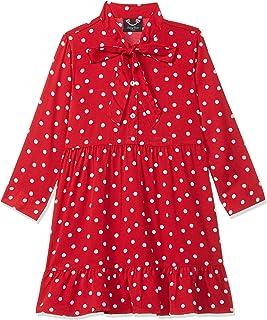 Smiling Bows Girls Polka Dot Printed Dress