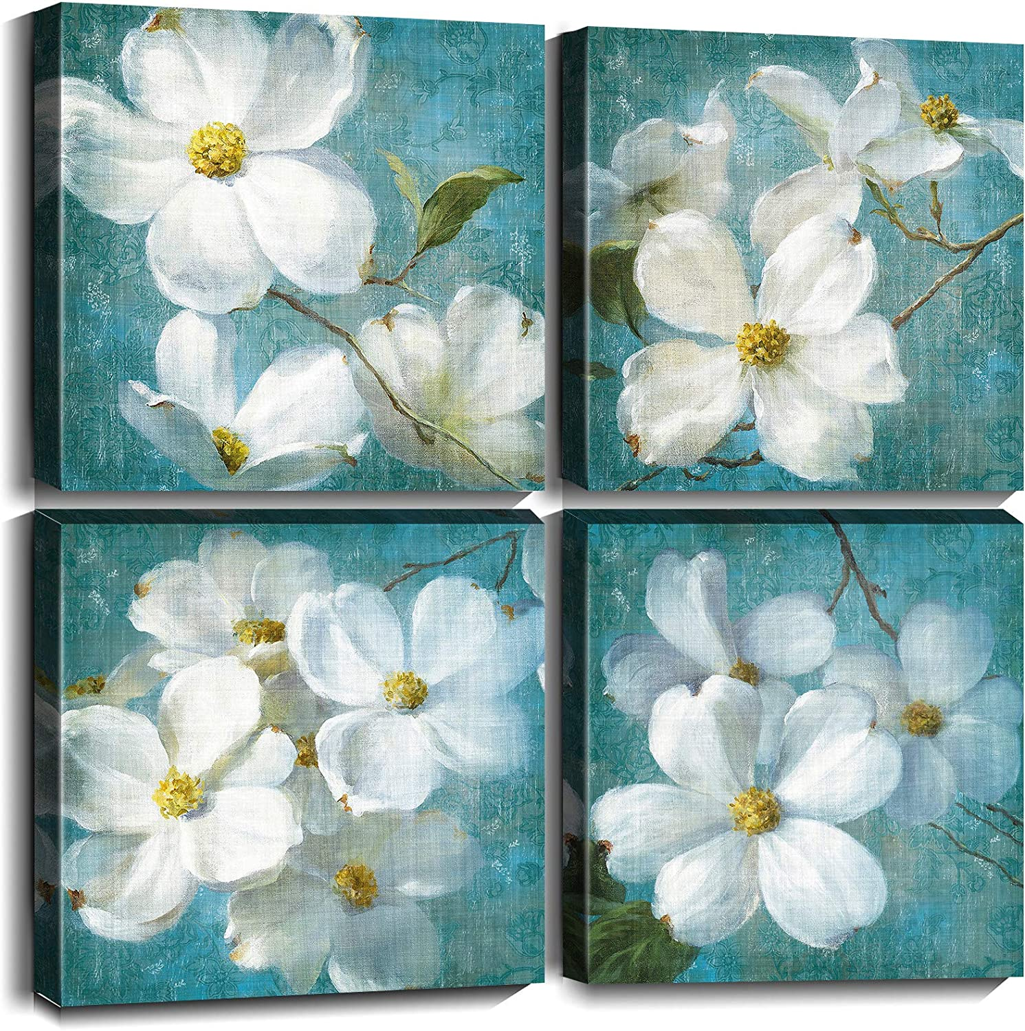 White Excellent Flower Canvas Wall Art Picture Decor Floral Our shop most popular Painting