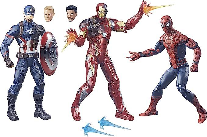 "Marvel Toys 7/"" Avengers Civil War Iron Man Figurine Avec Support Jouet Collect"