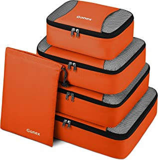Gonex Packing Cubes Travel Luggage Organizer with Shoe Bag (Orange)